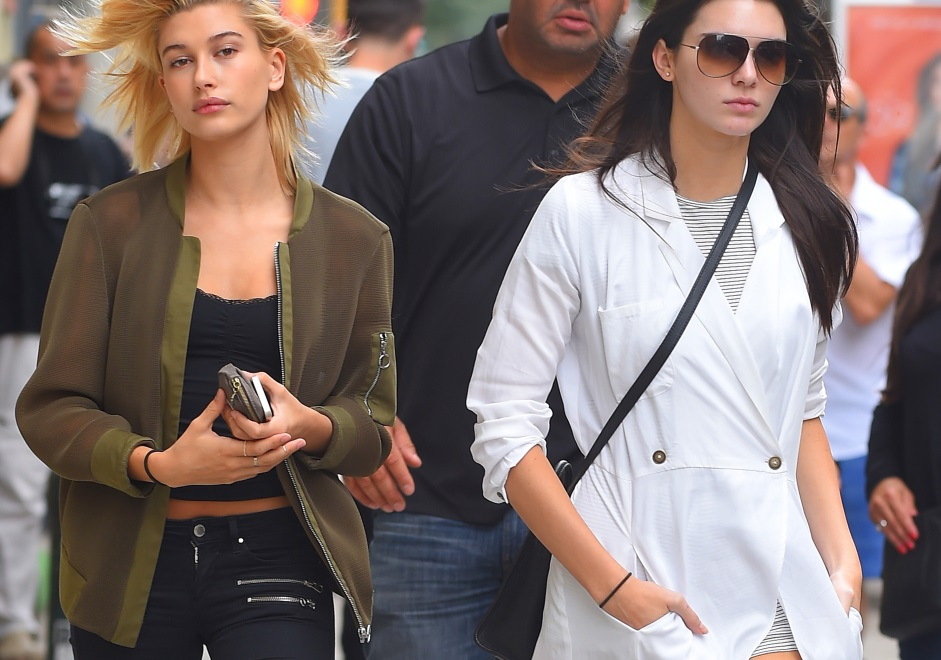 with best friend Kendall Jenner in New York 2014