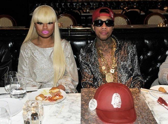 With a popular rapper Tyga